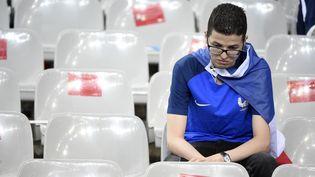 Un supporter français après la défaite de son équipe, le 10 juillet 2016 en finale de l'Euro. (JEAN MARIE HERVIO / DPPI MEDIA / AFP)