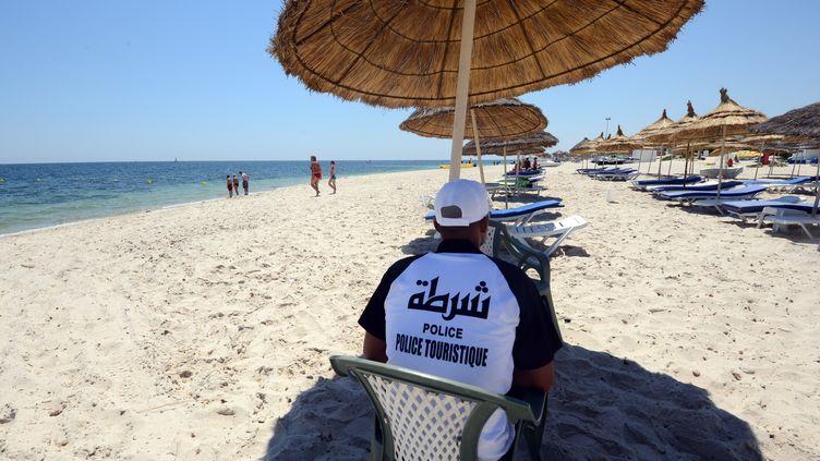 La police touristique à Sousse (Tunisie), le 3 juillet 2015. (FETHI BELAID / AFP)