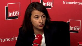 L'ancienne ministre du Logement Cécile Duflot était l'invitée de France Inter, le 29 novembre 2017. (CAPTURE ECRAN/FRANCE INTER)