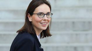Amélie de Montchalin quitte l'Elysée après le Conseil des ministres, le 1er avril 2019. (LUDOVIC MARIN / AFP)