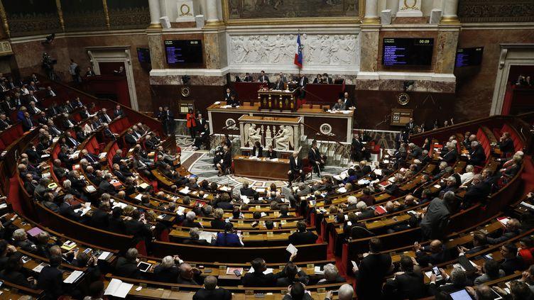 L'Assemblée nationale, le 22 février 2016. (PATRICK KOVARIK / AFP)