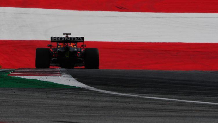 Max Verstappen (Red Bull Racing) lors des essais pour le Grand Prix de Styrie, le 25 juin 2021. (ANDREA DIODATO / NURPHOTO / AFP)