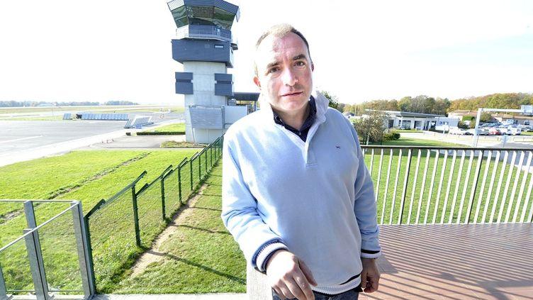 Philippe Gaillard, le 9 novembre 2011, à l'époque directeur de l'aéroport international de Limoges (Haute-Vienne). (BRUNO BARLIER / LE POPULAIRE / MAXPPP)