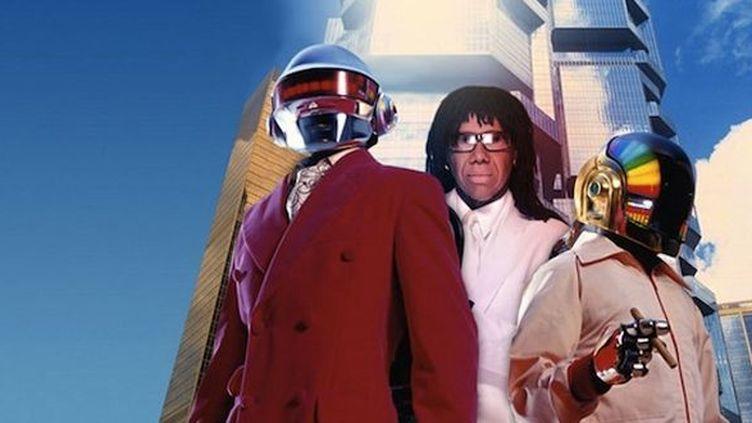 Nile Rodgers s'invite entre les deux Daft Punk dans un montage photo publié le 4 janvier 2013 sur son blog.  (http://www.nilerodgers.com/)