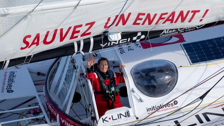 Samantha Davies est repartie lundi 14 décembre,pour boucler son Vendée Globe, hors-course.