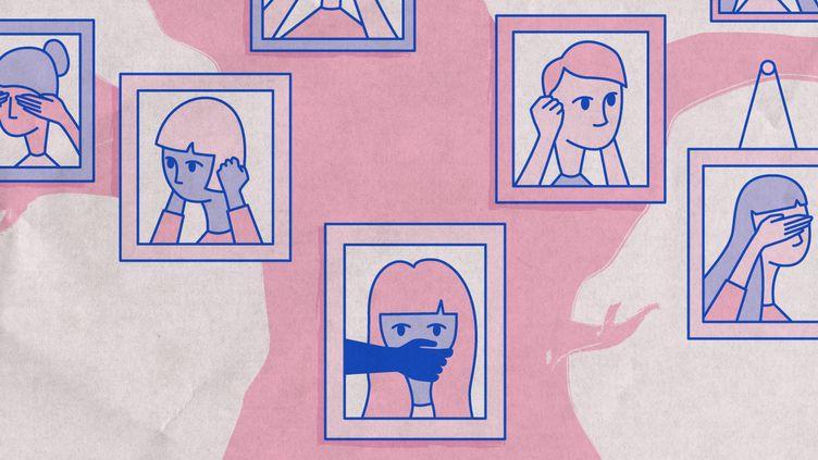 """Plusieurs victimes racontent à franceinfo l'omerta qui règne dans les affaires d'inceste, après la parution de """"La Familia grande"""" de Camille Kouchner et les témoignages qui ont afflué sur les réseaux sociaux. (ELLEN LOZON / FRANCEINFO)"""