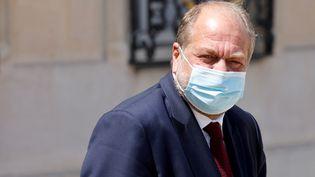 Le ministre de la Justice, Eric Dupond-Moretti, quitte l'Elysée, à Paris, le 9 juin 2021. (LUDOVIC MARIN / AFP)