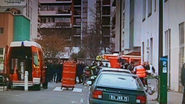 (Fusillade au siège de Charlie Hebdo, 10, rue Nicolas Appert © Copie d'écran)
