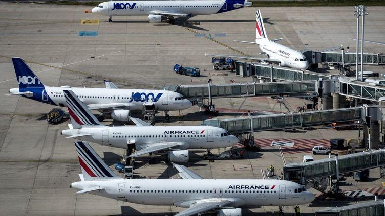 Des avions à l'aéroport Charles-de-Gaulle (Val-d'Oise), le 27 juin 2019. (JOEL SAGET / AFP)