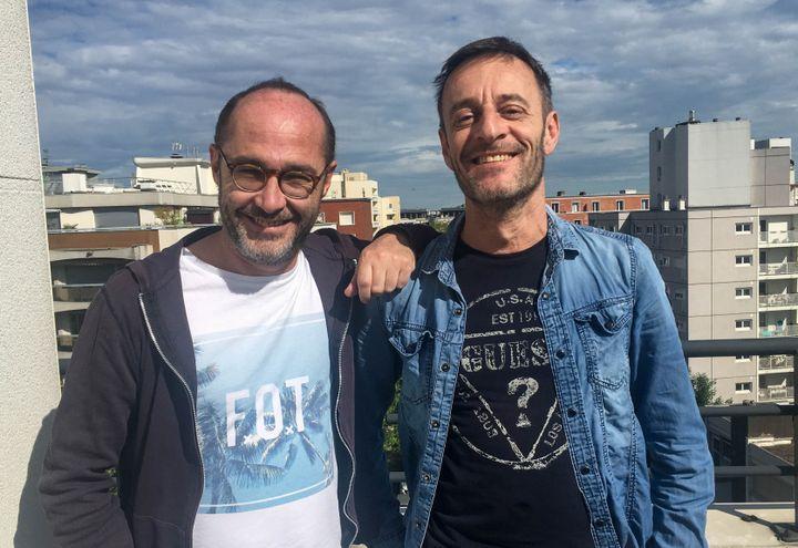 Romano et Difool, près de Paris, vendredi 12 mai 2017. (ELISE LAMBERT/FRANCEINFO)