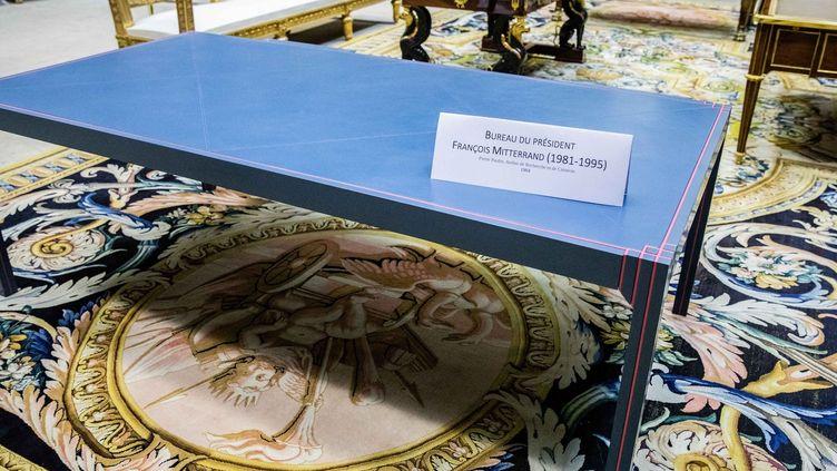 Le bureau du président François Mitterrand au Mobilier national  (IP3 PRESS/MAXPPP)