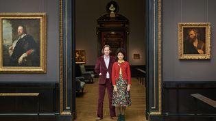 Wes Anderson et Juman Malouf au musée d'Histoire de l'art de Vienne.  (KHM-Museumsverband)
