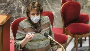 La ministre de la Culture Roselyne Bachelot à l'Assemblée nationale le 16 mars 2021 (VINCENT ISORE / IP3 PRESS / MAXPPP)