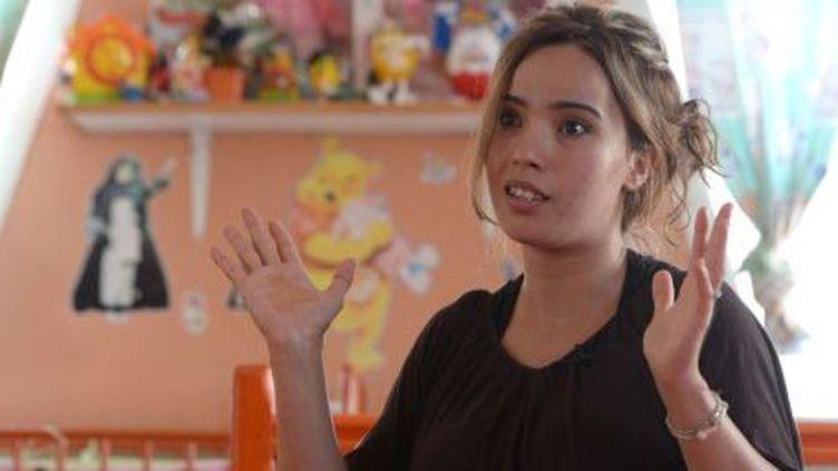 Khadija, mère célibataire de 27 ans, à Casablanca, au Maroc, le 30 juin 2014. (AFP/Fadel Senna)