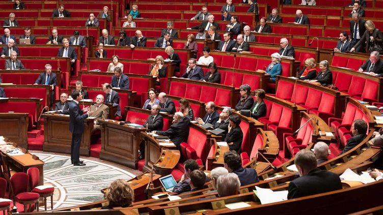(Manuel Valls devant l'Assemblée Nationale, vendredi © maxPPP)