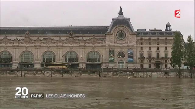 A Paris, les quais de Seine sont inondés