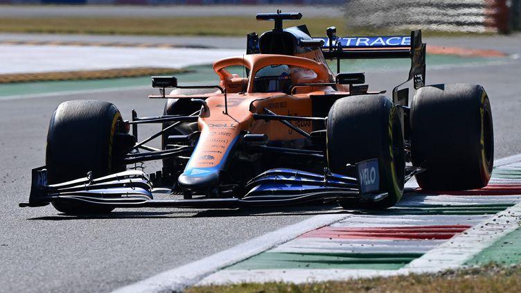 Le piloteMcLarenDanielRicciardoaterminé à la première place du Grand Prix d'Italie dimanche. (MIGUEL MEDINA / AFP)