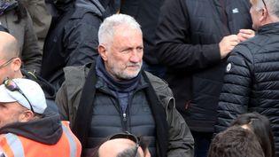 Le militant nationaliste corse Charles Pieri lors d'une manifestation pour le dialogue entre la France métropolitaine et la Corse, le 3 février 2018 à Ajaccio (Corse-du-Sud). (PASCAL POCHARD-CASABIANCA / AFP)