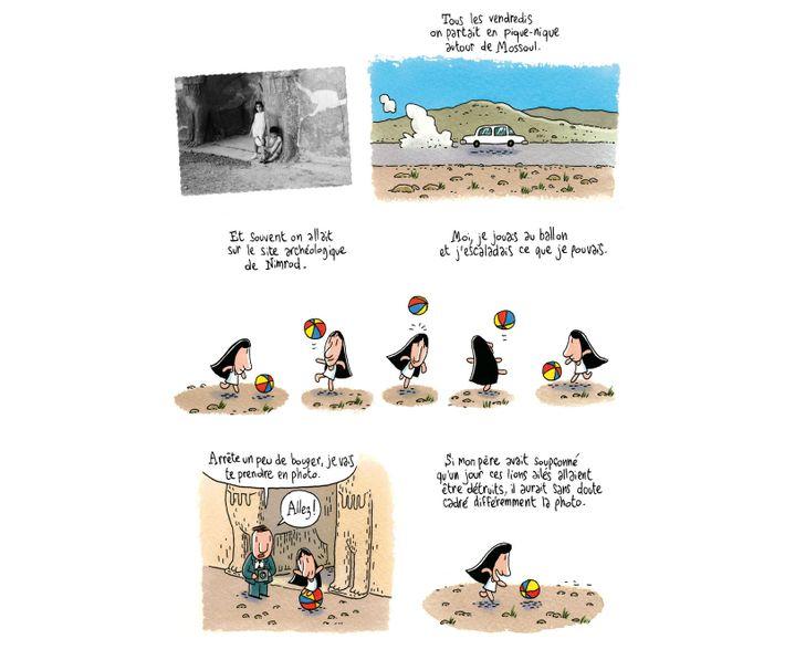 """""""Coquelicots d'Irak"""", page 3  (Brigitte Findakly - Lewis Trondheim)"""