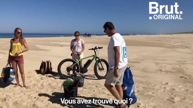 VIDEO. Des balades à vélo pour ramasser des déchets (BRUT)