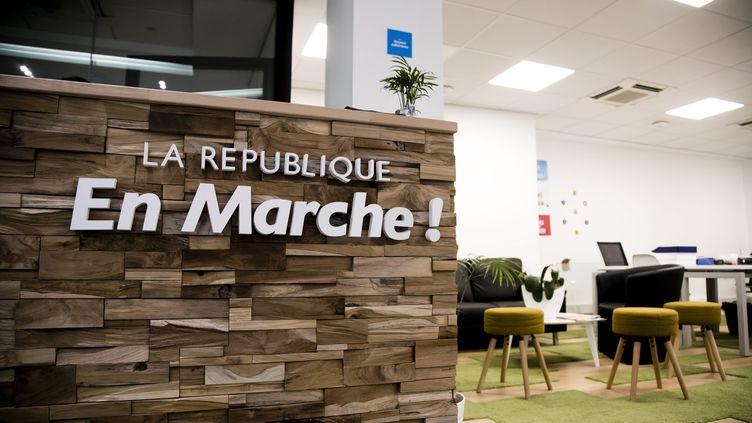Des bureaux de la République en Marche, en octobre 2017 à Paris. (MAXPPP)