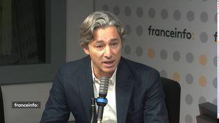 Laurent Solly, vice-président de Facebook, lundi 18 octobre sur franceinfo. (RADIO FRANCE / FRANCEINFO)