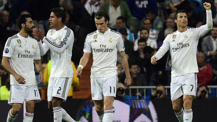 Cristiano Ronaldo et ses coéquipiers du Real Madrid ont tremblé (GERARD JULIEN / AFP)