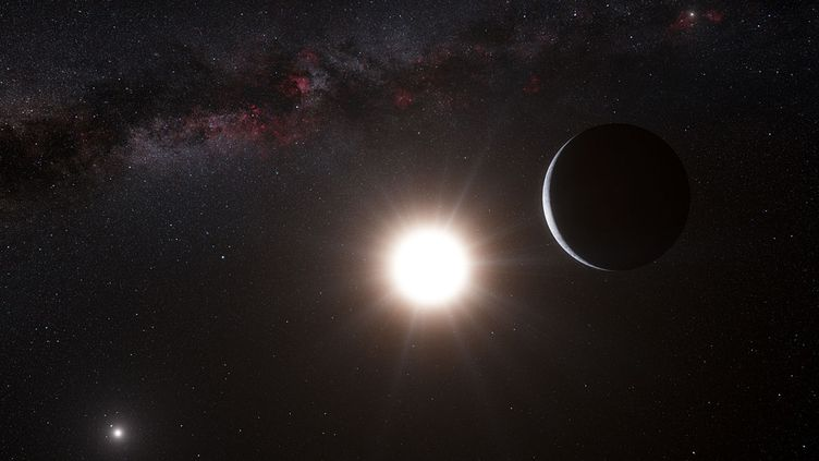 Une vue d'artiste d'une exoplanète en orbite autour de l'étoileAlpha Centauri B, dévoiléele 17 octobre 2012. (REUTERS)