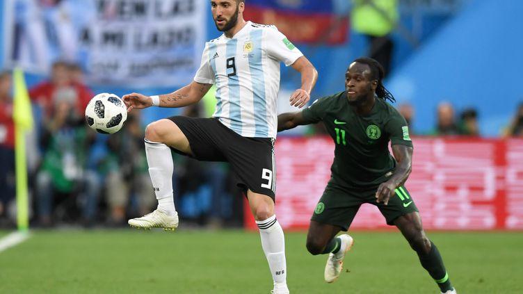 Gonzalo Higuain, lors du match contre le Nigeria (GABRIEL BOUYS / AFP)