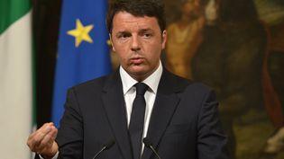 Le chef du gouvernement italien Matteo Renzi le 19 avril à Rome (Italie). (TIZIANA FABI / AFP)