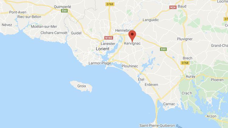 La commune deKervignac dans le Morbihan. (GOOGLE MAPS / FRANCETV INFO)