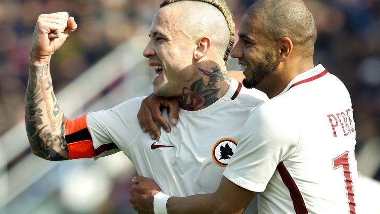Naiggolan encore buteur pour la Roma (CARLO HERMANN / AFP)