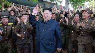 Le leader de la Corée du Nord,Kim Jong-un, le 22 mai 2017. (STR / KCNA VIA KNS/ AFP)
