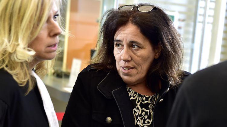 Rosa-Maria Da Cruz, la mère de la petite Séréna, lors de l'ouverture de son procès à Tulle (Corrèze), le 12 novembre 2018. (GEORGES GOBET)