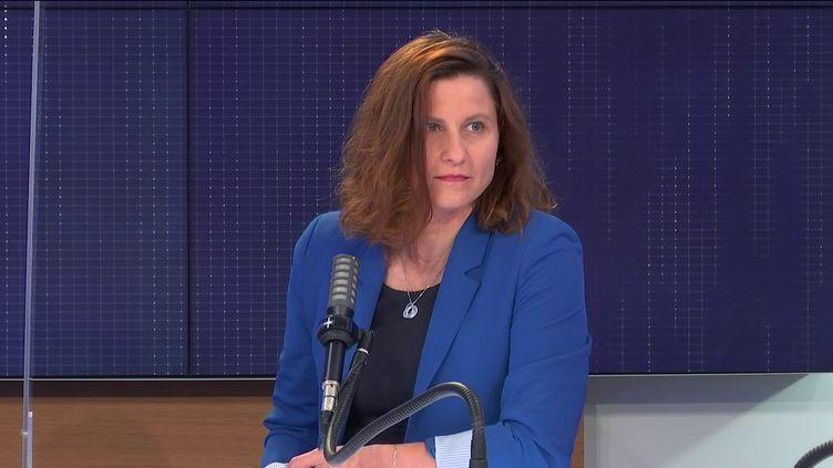 Roxana Maracineanu, ministre déléguée chargée des Sports, invitée de franceinfo le 15 juin 2021. (FRANCEINFO / RADIO FRANCE)