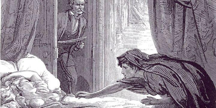 "Illustration pour ""Carmilla"" (1871) de Sheridan Le Fanu"