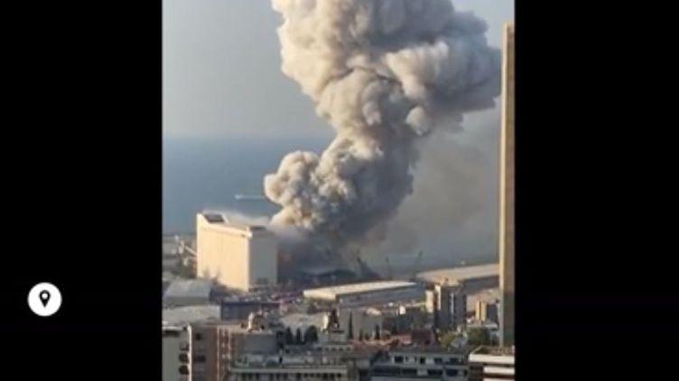 Une image tournée à Beyrouth (Liban) avant l'explosion du port, le 4 août 2020. (FRANCEINFO)