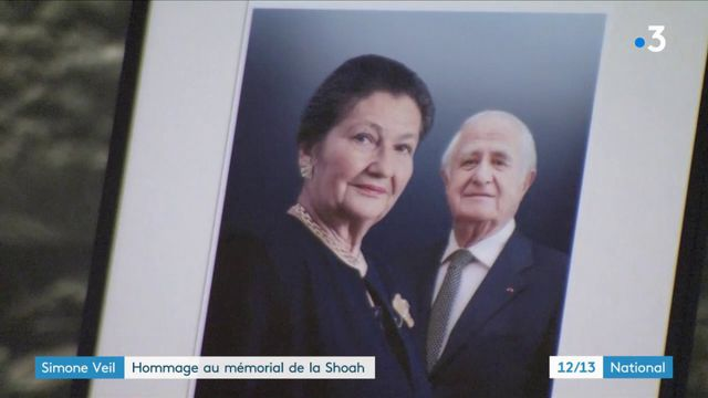 Hommage à Simone Veil au mémorial de la Shoah