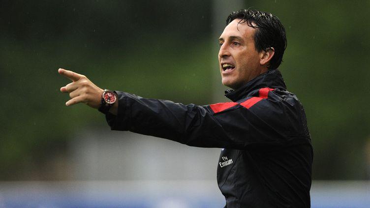 Unai Emery, l'entraîneur du PSG (SAMUEL KUBANI / AFP)