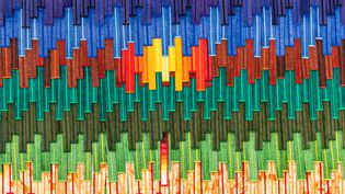 """Détail de """"Hommage à la femme marocaine"""", une œuvre d'Abdoulaye Konaté (ABDOULAYE KONATE)"""