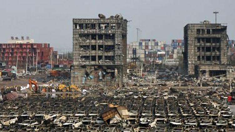 Vue du site de la catastrophe de Tianjin (nord-est de la Chine), le 17 août 2015 (REUTERS - Kim Kyung-Hoon)