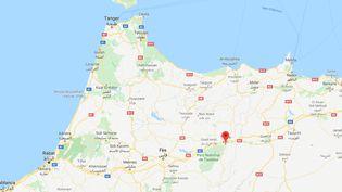 L'autocar s'est retourné près de la ville de Taza, dans le nord du pays, le 1er décembre. (GOOGLE MAPS)