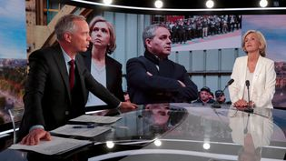 Valérie Pécresse annonce sa candidature sur le plateau de TF1, le 22 juillet 2021, à Paris. (JOEL SAGET / AFP)