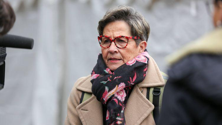 La mère de Vincent Lambert, Viviane Lambert, en janvier 2019 à Paris. (MICHEL STOUPAK / NURPHOTO / AFP)