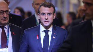Emmanuel Macron, le 1er décembre 2018, à Buenos Aires (Argentine). (LUDOVIC MARIN / AFP)