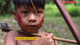 Un enfant de la tribu Waiapi en Amazonie (Brésil) (FRANCEINFO)