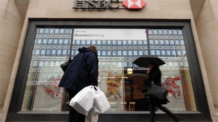 Une agence de HSBC à Londres (AFP/BEN STANSALL)