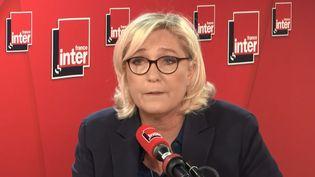 Marine Le Pen, invitée sur France Inter, lundi 11 février. (France Inter)