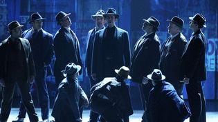 """Nuage sur le spectacle """"Coups de feu sur Broadway"""", ici pendant les Tony Awards, le 8 juin 2014 à New York  (Evan Agostini / AP / Sipa)"""