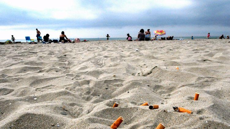 Une association a ramassé 25 000 mégots sur quatre plages marseillaises samedi 30 juin 2012. (MAX BERULLIER / MAXPPP)